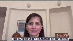 Is it safer to go to the salon or a store?