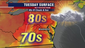 FOX 5 Weather afternoon forecast for Tuesday, May 26