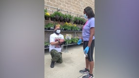 'They're trying to say I put something in my pocket': Walmart security helps man with proposal