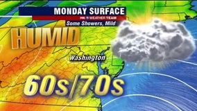 Cloudy, mild with some showers Monday; tracking local impact of Tropical Storm Arthur