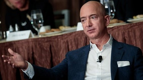 Protesters set up guillotine outside of Jeff Bezos' DC home