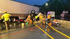 Jackknifed tractor trailer crash causes delays in Montgomery County