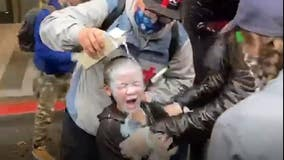 Video shows milk poured over face of child pepper-sprayed in Seattle protest