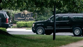 Trump golfs at Virginia club as he pushes states to reopen