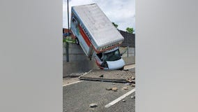 Oops! U-Haul driver crashes on Beltway ramp