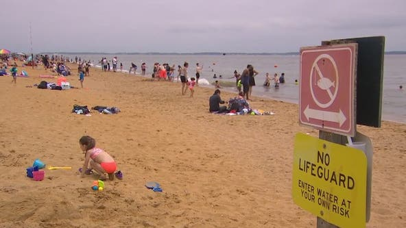 Memorial Day Sandy Point Beach crowd mostly respecting social distancing guidelines