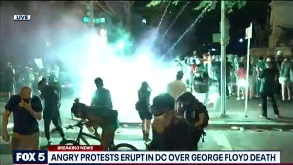 Tensions flare at DC protests for George Floyd near the White House as tear gas, pepper spray deployed