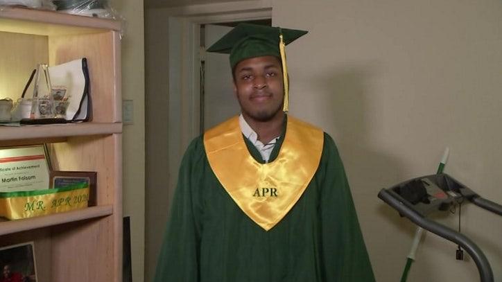 Homeless student graduates as valedictorian of Florida...