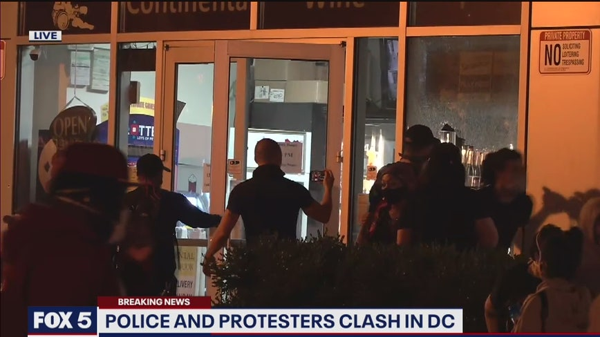 DC police brutality protests devolve into looting as chaos grips capital