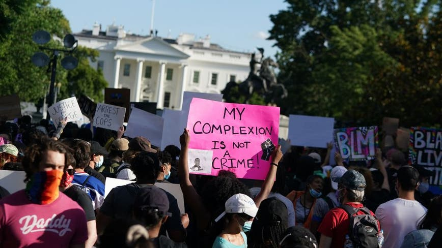 Protesters assemble outside of the White House for third straight day