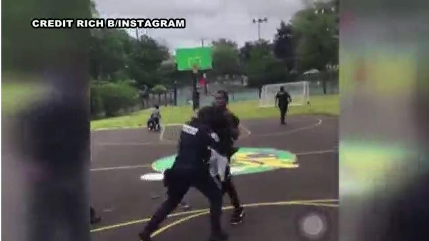 Video shows alleged attack on 2 DC cops at Southeast playground