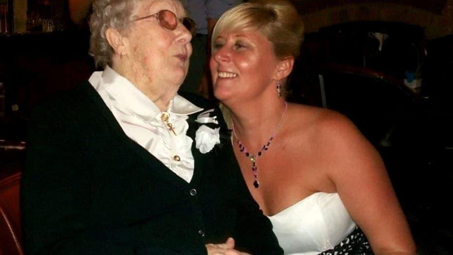 Rose Heeley with her granddaughter, Tracey Appleyard, 49.