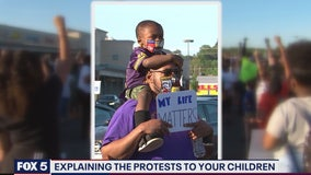 Tips on how to explain the protests to your children