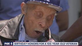 Maryland community celebrates WWII veteran's 105th birthday