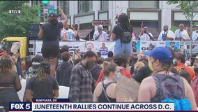 Celebrations, protests mix at DC Juneteenth event