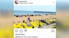 Pharrell proposes Black Lives Matter mural on Virginia Beach boardwalk: 'VB, let's make this happen'