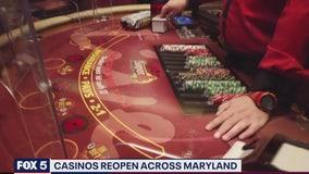 Casinos open up across Maryland