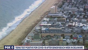 Beach bound teens face coronavirus threat