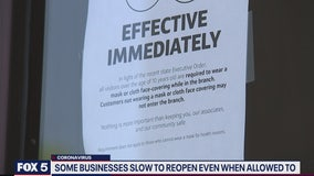 Some Virginia businesses slow to reopen even when allowed to