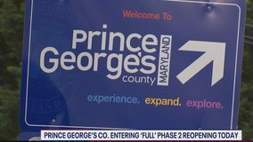 Prince George's County moves into 'full' phase two reopening Monday