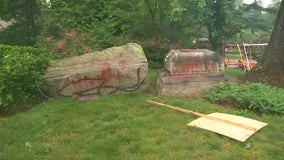 Confederate memorial at Silver Spring church toppled over