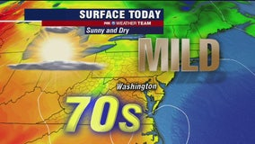 Mild, dry Monday with highs in the 70s