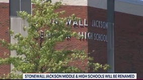 Prince William County to rename schools honoring Confederate general Stonewall Jackson