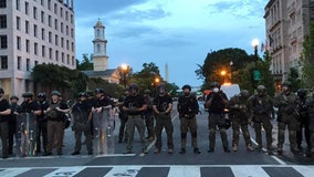 Calm Wednesday morning following night of mostly peaceful protests in DC