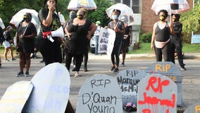 DC's black activists protest outside Vince Gray's home with police defunding calls