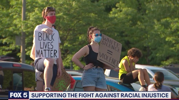Rally held in Fairfax County to support the fight against racial injustice