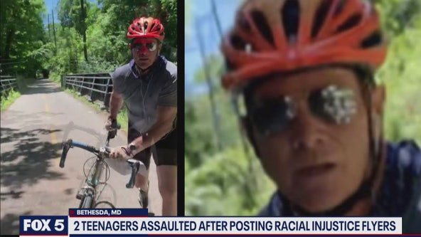 Police searching for man accused of assaulting 3 people posting racial injustice posters in Maryland