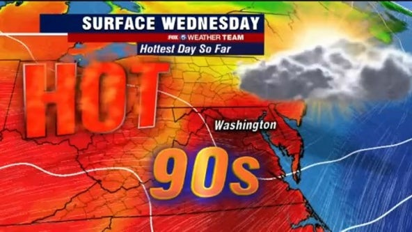Hot, humid temperatures in the 90s Wednesday; evening storms possible