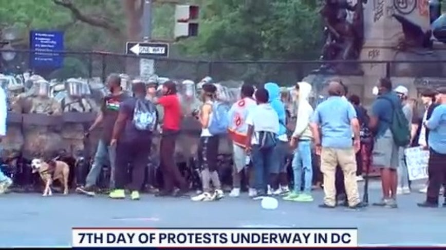 Calm start to 7th day of DC protests in response to death of George Floyd
