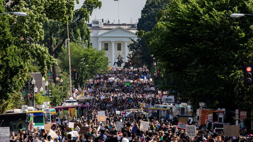 Protesters pour into DC for city's largest demonstration yet