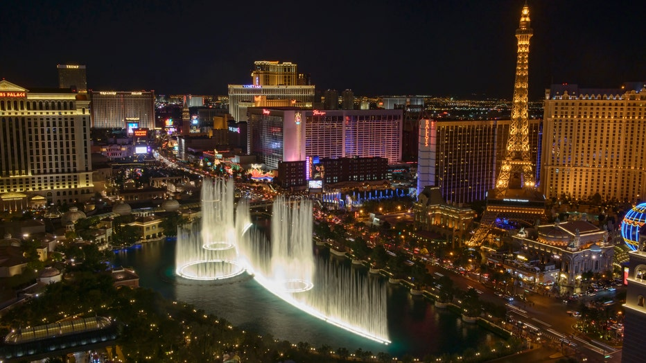 The Strip and Bellisario Fountains, Las Vegas