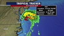 Tropical Storm Fay brings rain to beaches; hot and humid weekend ahead