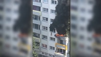 2 boys saved when caught in falls in French apartment fire
