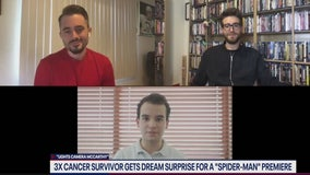 3 time cancer survivor Mateo Coka, Brad Lambert surprised with premiere tickets to Spider-Man: Far From Home
