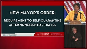 DC mayor orders quarantine for visitors from high-risk areas