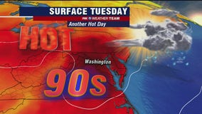 DC breaks July heat record with 26th day of 90 degree plus temperatures; afternoon storms likely