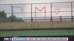 Battle brewing over 'Black Lives Matter' art on Fairlington Bridge