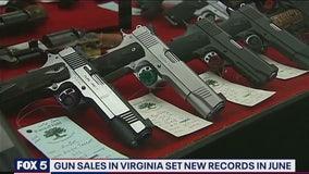 Gun sales break historic records in Virginia amid pandemic, protests