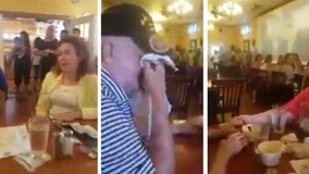 Restaurant patrons, workers join in singing 'Amazing Grace' to Louisiana man dying of brain tumor