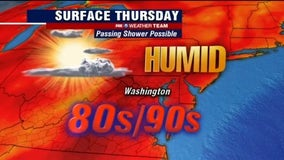 Hot, humid Thursday; mostly sunny, dry with temperatures near 90 degrees