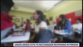 Union urges Fairfax County Public Schools to begin school year virtually