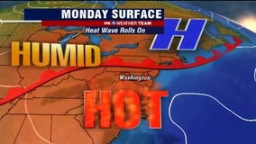 Heat wave continues across DC region Monday; afternoon thunderstorms possible