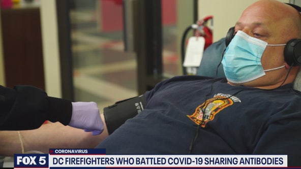 DC firefighters who got COVID-19 are donating plasma to patients fighting