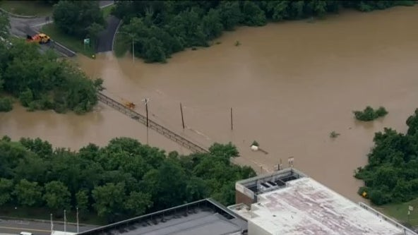 Flooded roadways, downed trees after night of intense storms across DC region