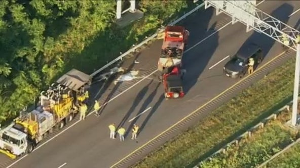 Highway worker killed in early morning crash in Howard County