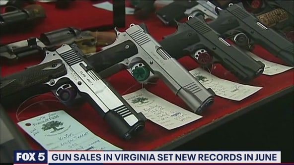 Gun sales break historic records in Virginia amid pandemic, protests